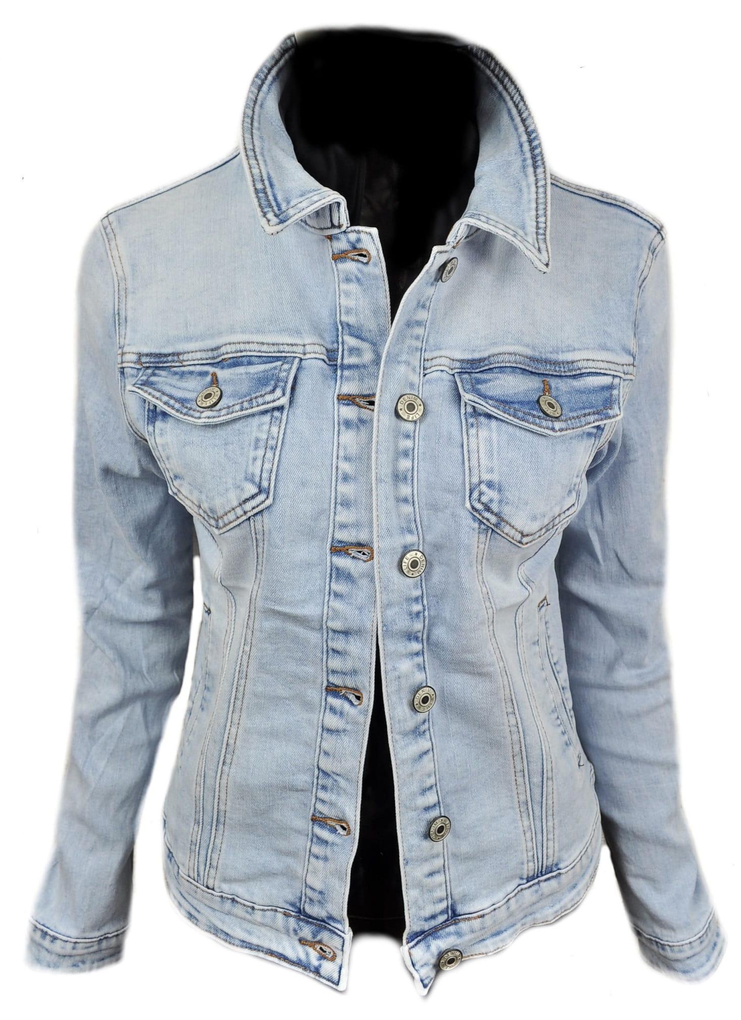 Wiosenna jeansowa damska kurtka jeans katana jasna - 050