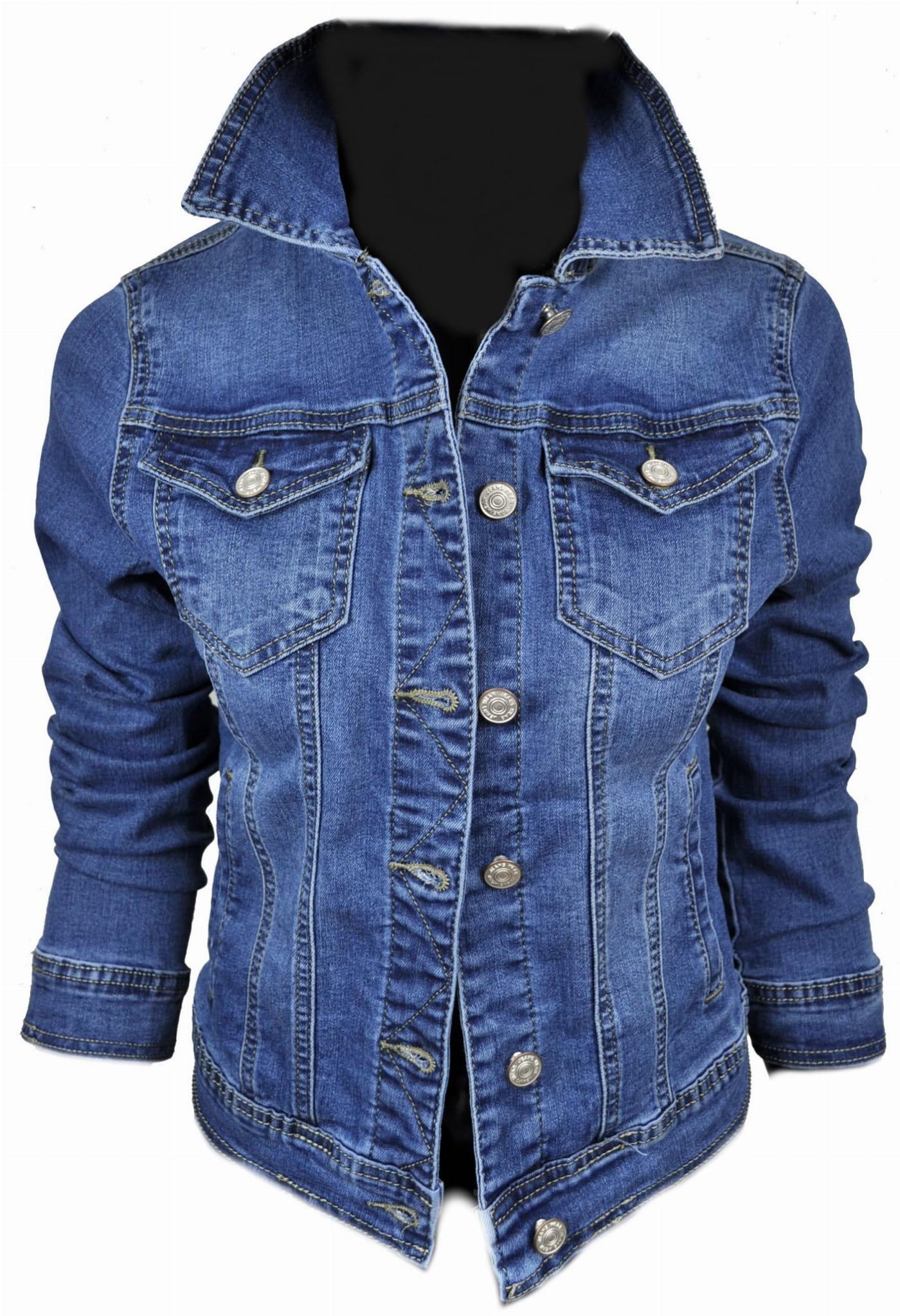 Wiosenna jeansowa damska kurtka jeans katana - 209