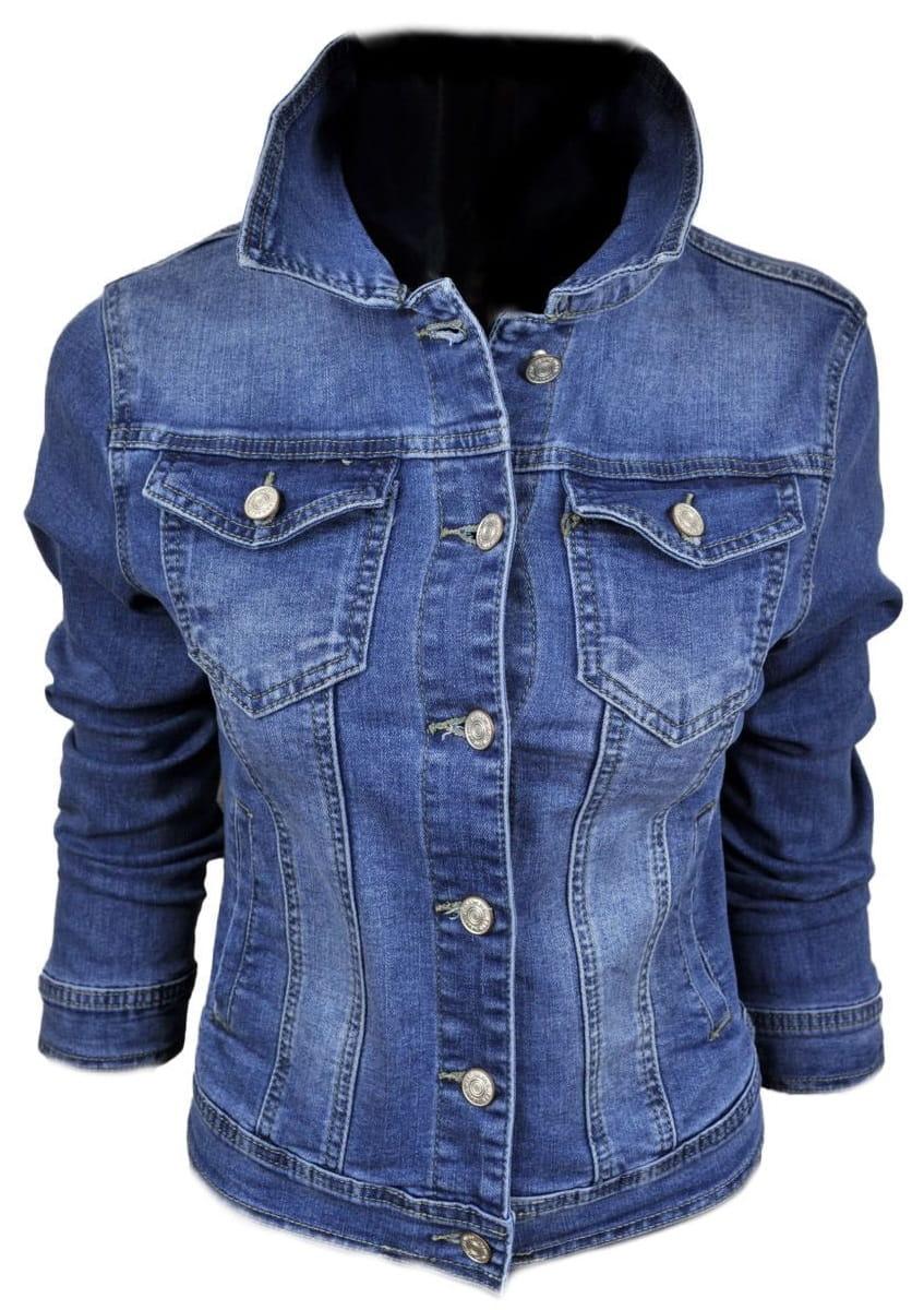 Wiosenna jeansowa damska kurtka jeans katana - 208