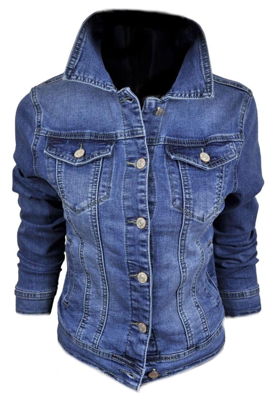 Wiosenna jeansowa damska kurtka jeans katana - 216