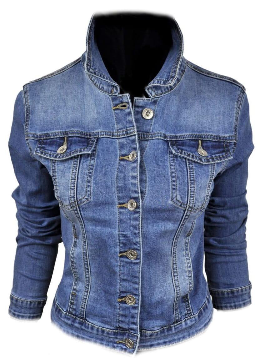 Wiosenna jeansowa damska kurtka jeans katana - 061