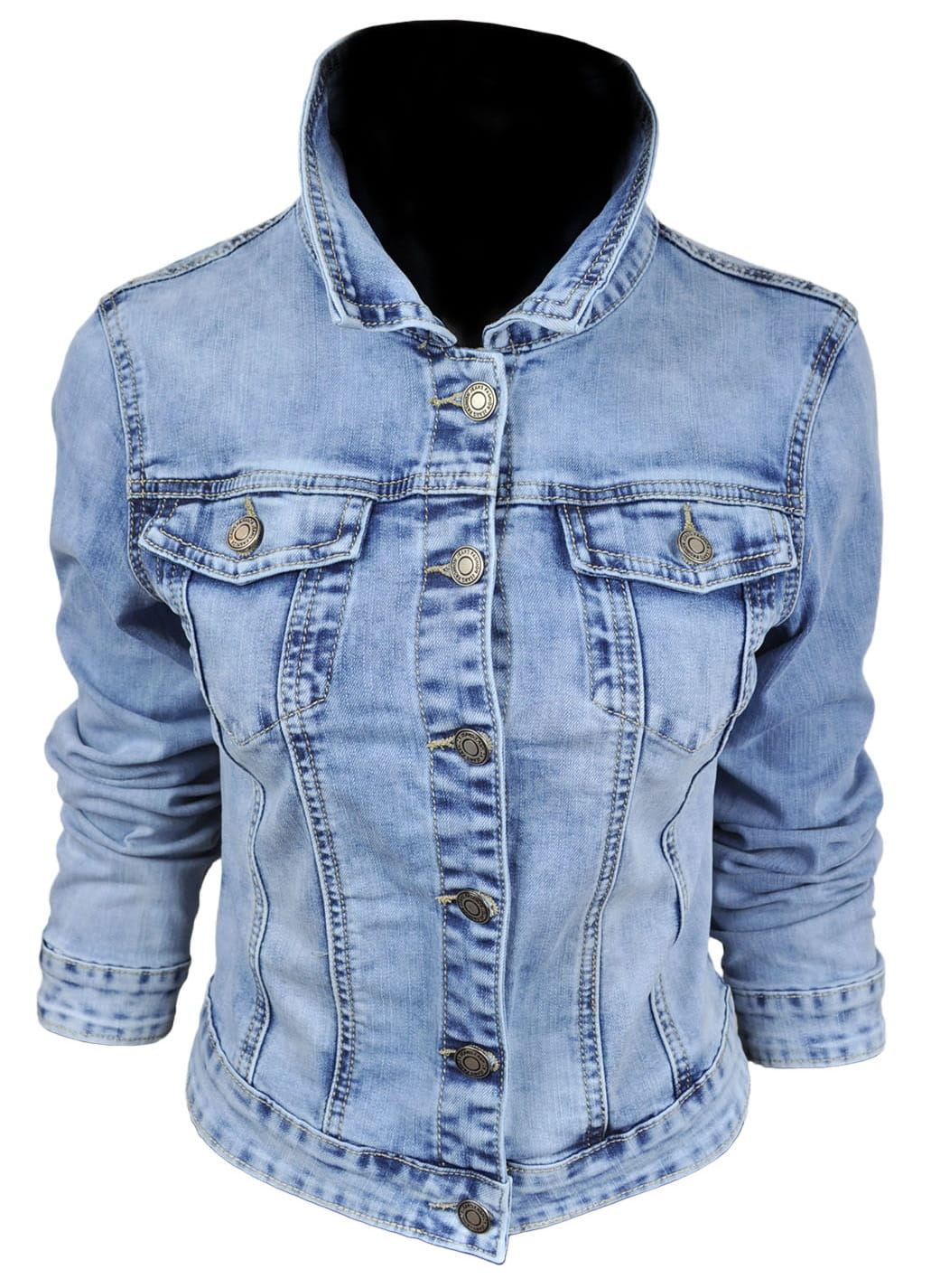 Wiosenna jeansowa damska kurtka jeans katana BASIC - 122